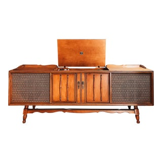 1960s Mid Century Modern Record Console For Sale