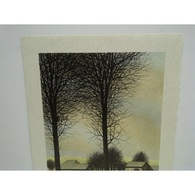 """Americana Limited Edition """"Two Trees"""" Signed Print by Deperthes For Sale - Image 3 of 6"""