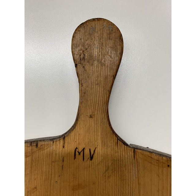 Early 20th C Antique French Pine Boulangerie Round Breadboard For Sale - Image 12 of 13