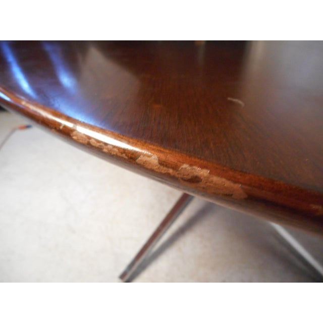 Silver Midcentury Dining Table by Knoll For Sale - Image 8 of 13