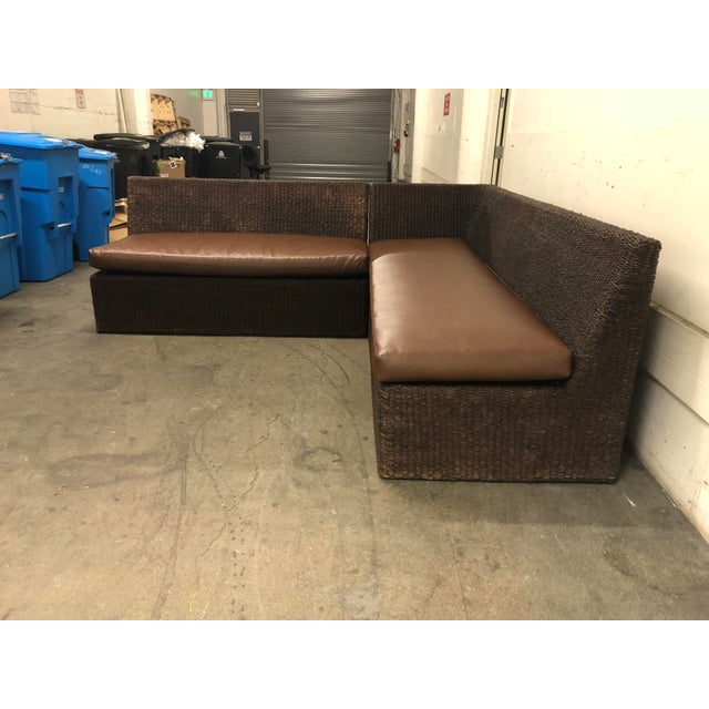 Two Piece Sectional From Walter's Wicker Works For Sale In San Francisco - Image 6 of 10