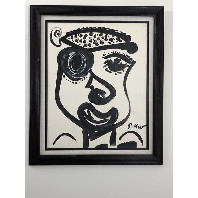 "Peter Keil 1980s Abstract Painting, ""Pirate Face"" by Peter Keil For Sale - Image 4 of 4"