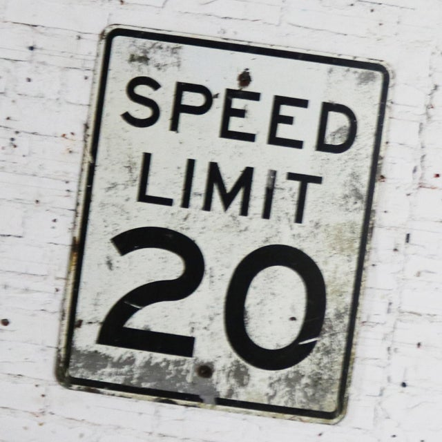Fun Speed Limit 20 vintage steel traffic sign. It is large and in awesome vintage condition with just the right amount of...
