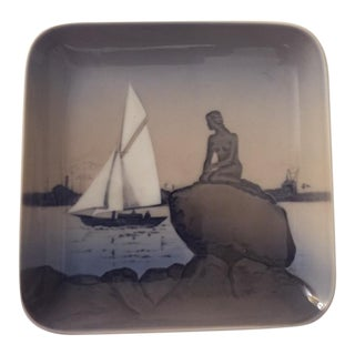 Den Lille Havfrue Sailboat Dish
