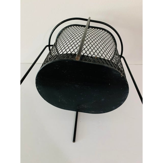 Maurice Duchin Floating Iron Mesh Wastebasket Trash Can For Sale In Palm Springs - Image 6 of 12