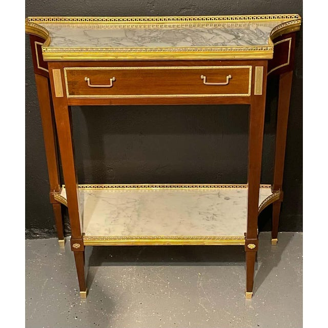 Metal Russian Neoclassical Console Tables, Sofa Tables or Bedside Stands - a Pair For Sale - Image 7 of 12