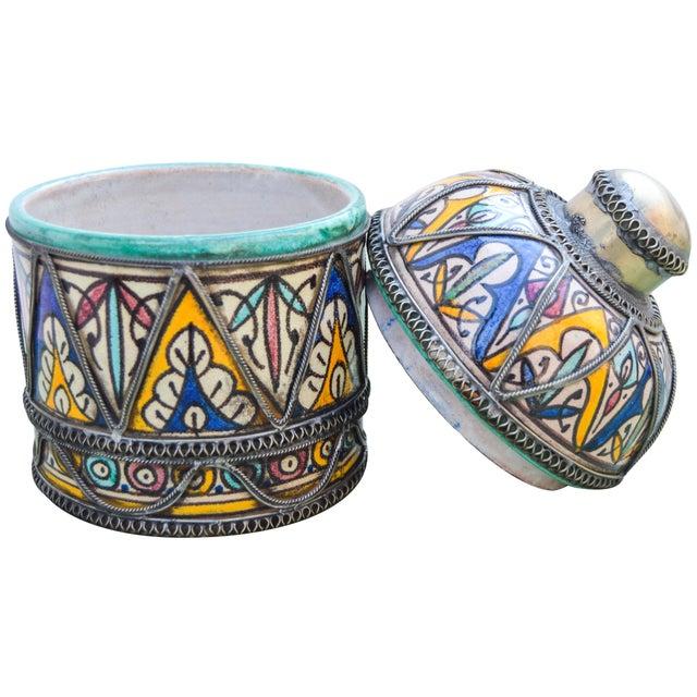 Andalusian Filigree Ceramic Box For Sale - Image 12 of 13