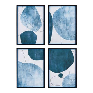 Kenneth Ludwig Chicago Abstract Ecliptic Prints - Set of 4, Framed For Sale