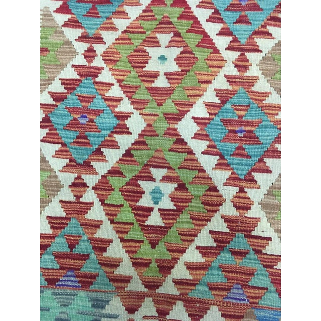 """Traditional Hand Knotted Traditional Design Uzbek Kilim. 5'0"""" X 6'8"""" For Sale - Image 3 of 7"""