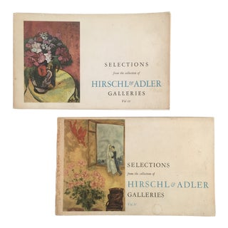 1960's Hirschl & Adler Galleries Art Catalogs - a Pair For Sale