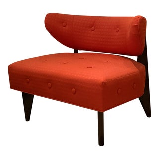 Mid Century Inspired, Hug Chair in Red, Dwm | Maloos For Sale
