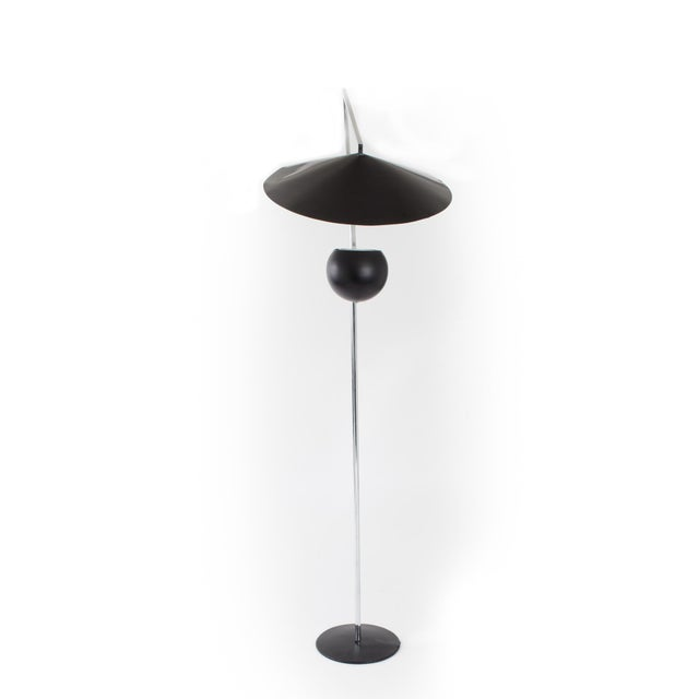 Robert Sonneman 1960s Vintage Robert Sonneman Architectural Chrome and Black Articulated Floor Lamp For Sale - Image 4 of 7