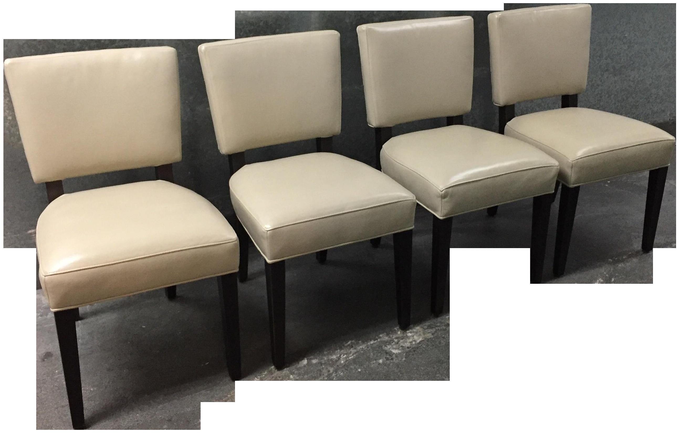 Room U0026 Board Georgia Leather Chairs   Set Of 4