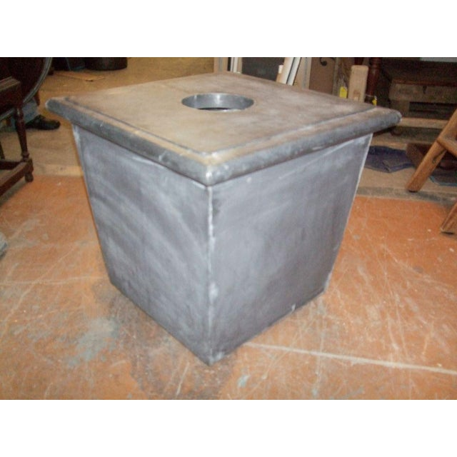 Mid 20th Century Zinc Planter with Ram's Head For Sale - Image 5 of 6