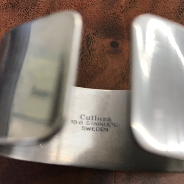 Metal Set of 5 Swedish Napkin Rings by Cultura For Sale - Image 7 of 13