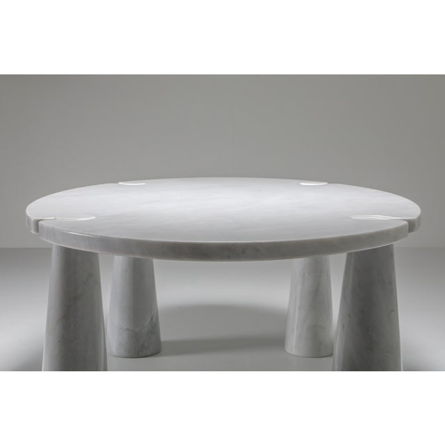 Carrara Marble Dining Table by Angelo Mangiarotti - 1970s For Sale - Image 12 of 13