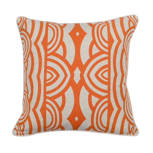 Modern Orange Down Pillow - Image 1 of 2