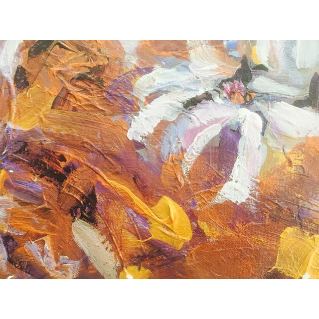2000 - 2009 Large Original Expressionistic Floral Painting For Sale - Image 5 of 6