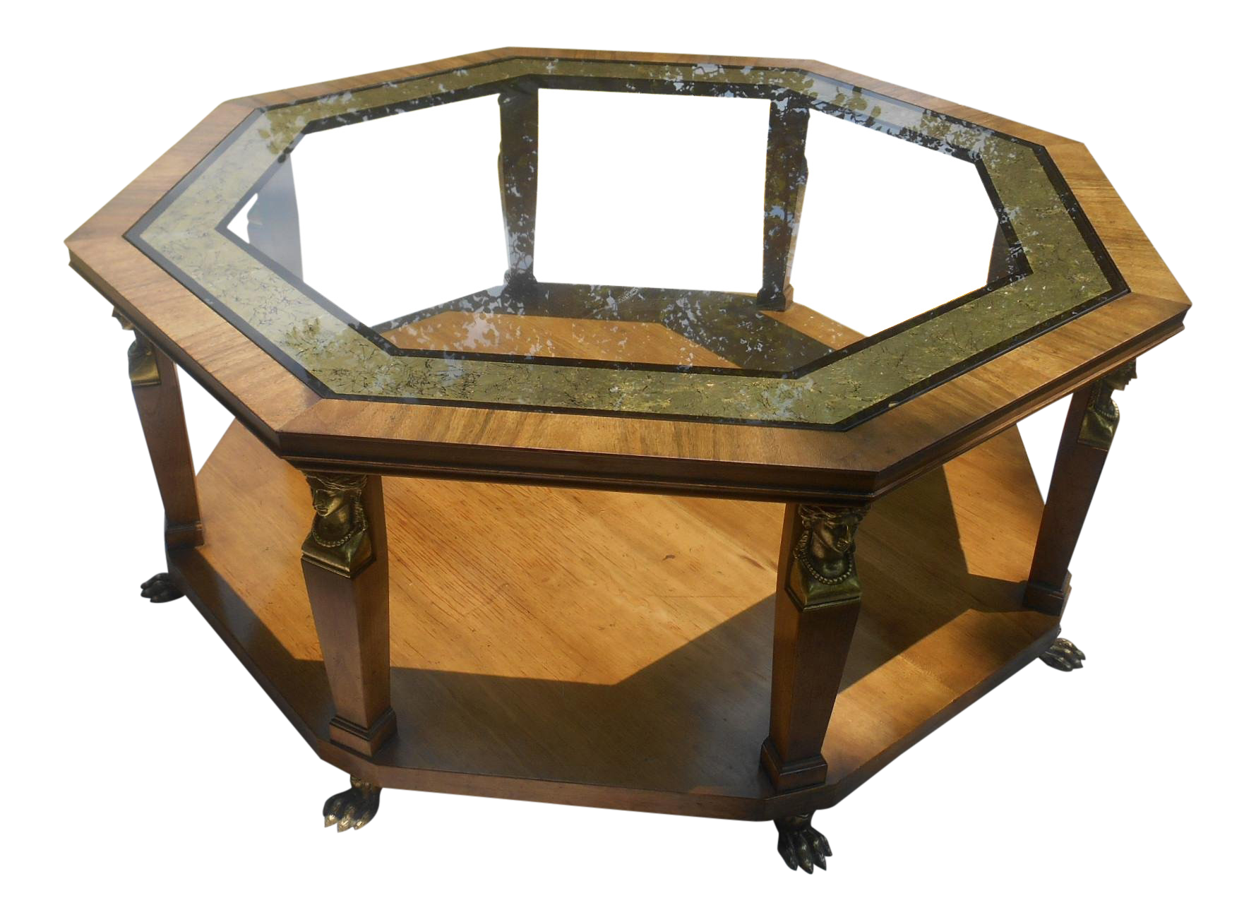 Charmant 1960s Vintage Baker Furniture Egyptian Revival Octagon Coffee Table For Sale