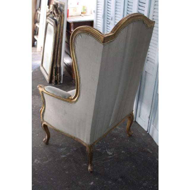 Louis Xv Style Wingback Bergères Chairs - a Pair For Sale - Image 10 of 11