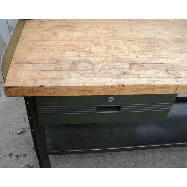 Butcher Block Furniture Inc Antique Metal Industrial Butcher Block Table
