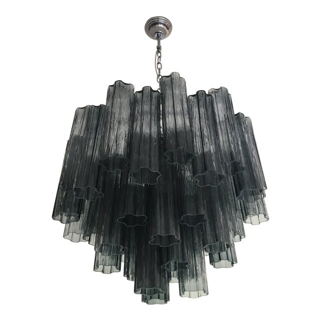 "Contemporary Murano Glass ""Tronchi"" Chandelier For Sale - Image 9 of 9"