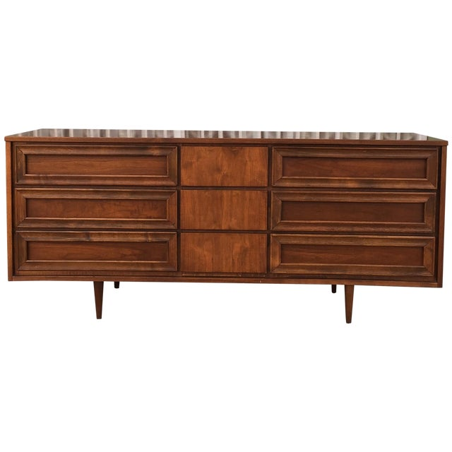 Vintage Walnut Dresser - Image 1 of 6