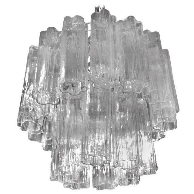 Vintage Murano Glass Chandelier Tronchi For Sale - Image 11 of 12