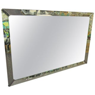 Large Midcentury Mirror in the Hollywood Regency Style For Sale