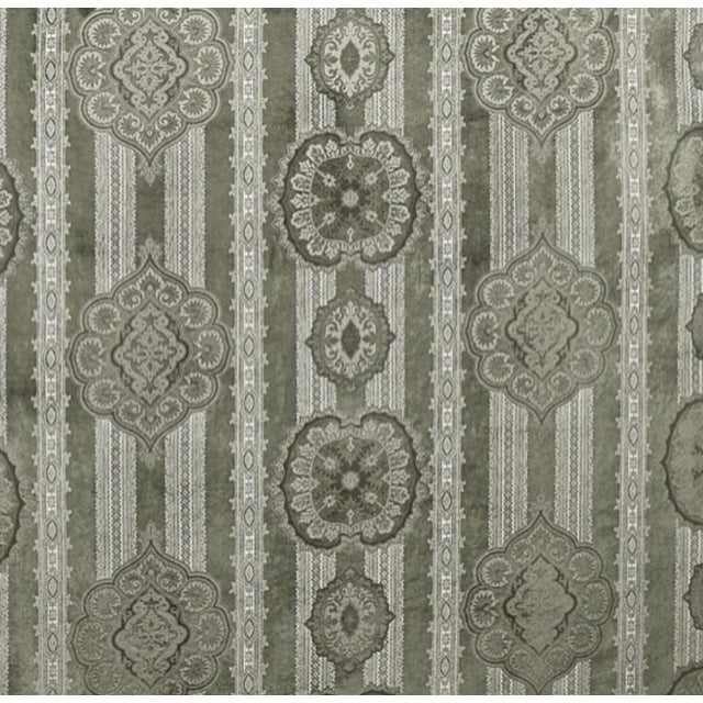 Casimir Gilded Paisley Fabric in Pewter - Image 1 of 2