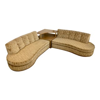 Mid-Century Dunbar Edward Wormley 3 Pc Sectional Sofa With Corner Table For Sale