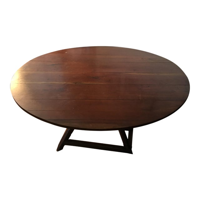 20th Century Revolving Country Round Dining Table For Sale