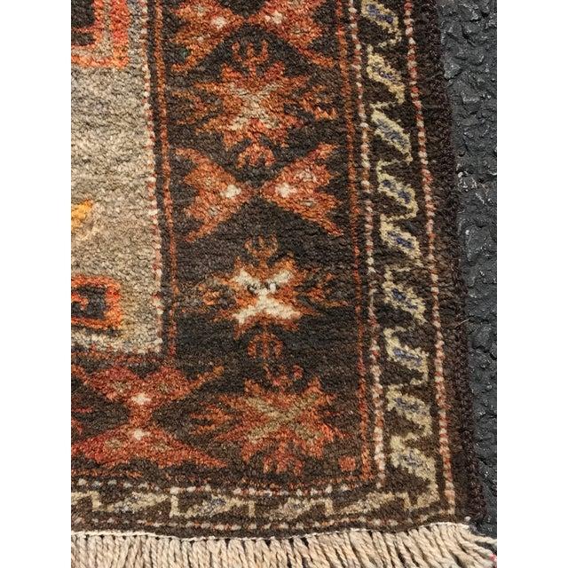 Vintage Persian Hamadan Rug - 2′1″ × 4′9″ - Image 5 of 9