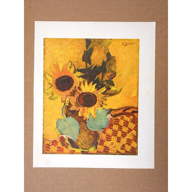 Modern Vintage Mid-Century Braque Lithograph For Sale - Image 3 of 5