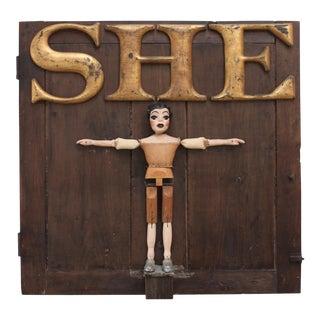 """Lenny Kislin Marionetta Artwork Title """"She"""" For Sale"""