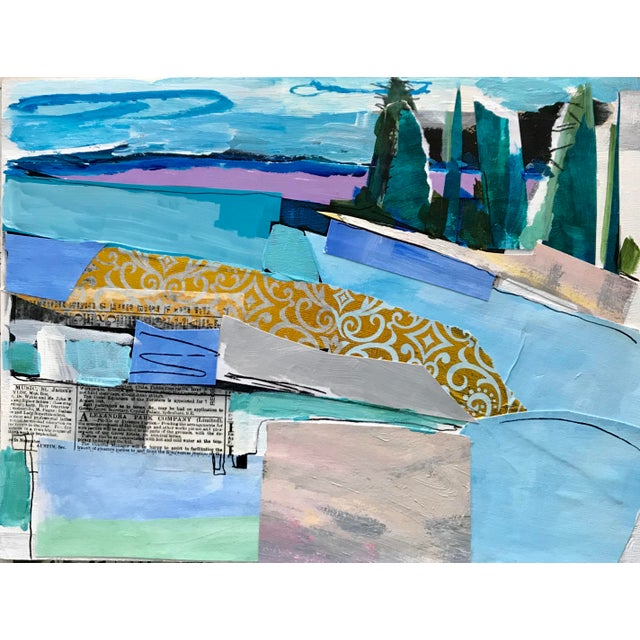 """Contemporary Collage, """"Stonington"""" For Sale"""