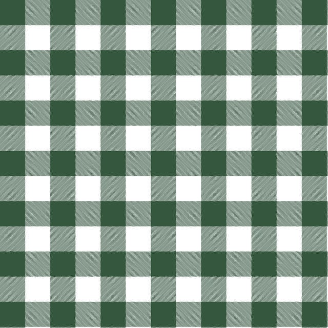 2010s Dining Chair in Classic Gingham Evergreen Oga For Sale - Image 5 of 7