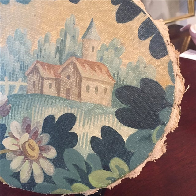 Early 20th Century Oval Continental Oil Painting For Sale - Image 5 of 9