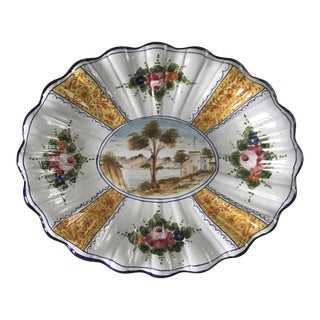 Vintage Italian Hand Painted Platter From Deruta Italy