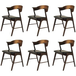 Mid Century Modern Refinished Rosewood Dining Chairs- Set of 6 For Sale