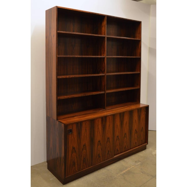 Brown Mid-Century Modern Danish Rosewood Bookcase For Sale - Image 8 of 10