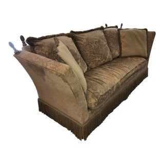Tomlinson Erwin Lambeth Luxury Beige Cloth Couch For Sale