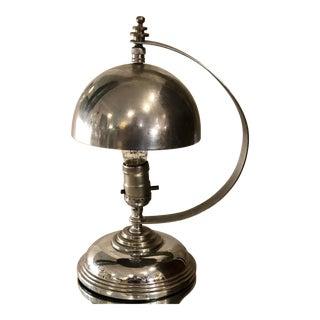 Markel Hemisphere Art Deco Chrome Machine Age Lamp For Sale
