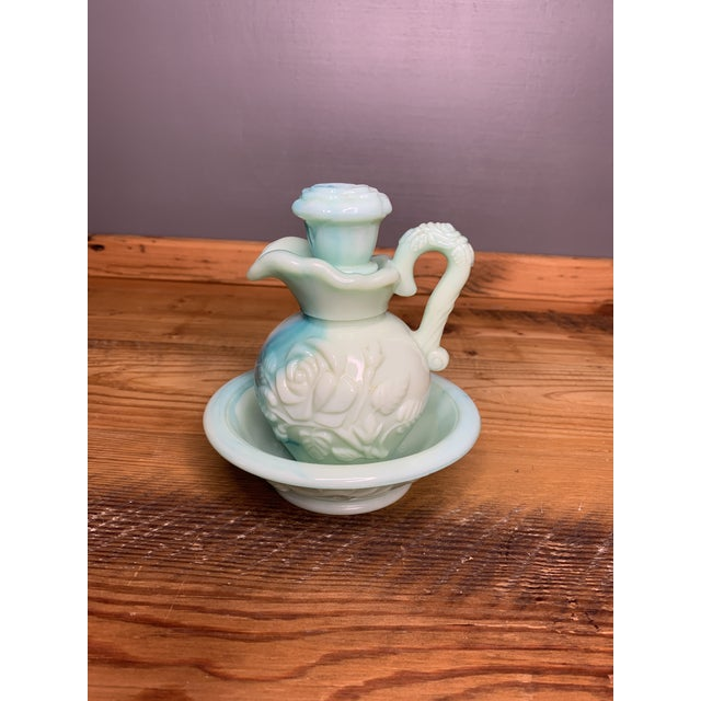 Ceramic Vintage Avon Perfume Bottle and Dish For Sale - Image 7 of 11