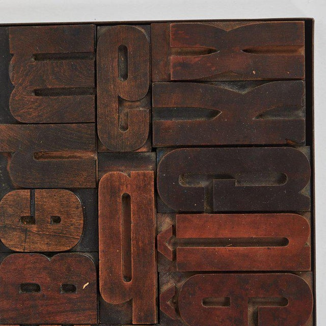 Vintage Wood Typeset Tray For Sale - Image 4 of 5