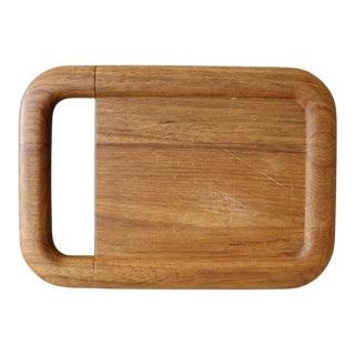 Vintage Kalmar Teak Cheese Slicer Cheese Board Cutting Board Tray For Sale