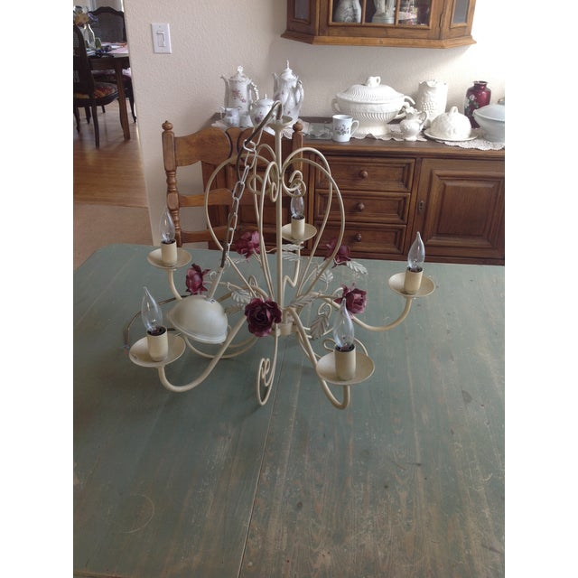 Antique European Rose Chandelier - A Pair - Image 3 of 4