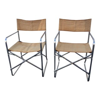 Vintage Folding Directors Chairs - A Pair