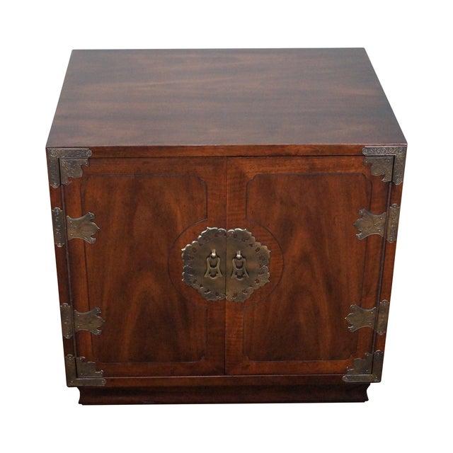 Henredon Asian Influenced Mahogany Nightstand For Sale