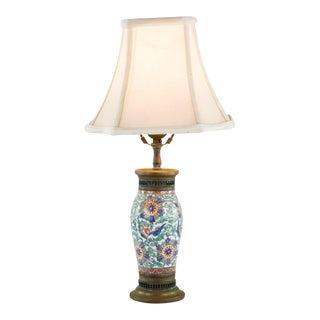Antique Porcelain & Bronze Urn Table Lamp